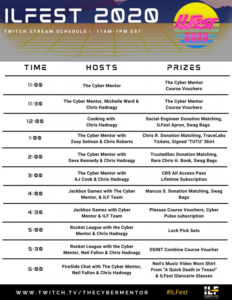 ILF Fest Schedule 2020
