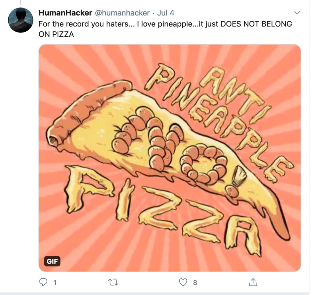 Anti Pineapple Pizza