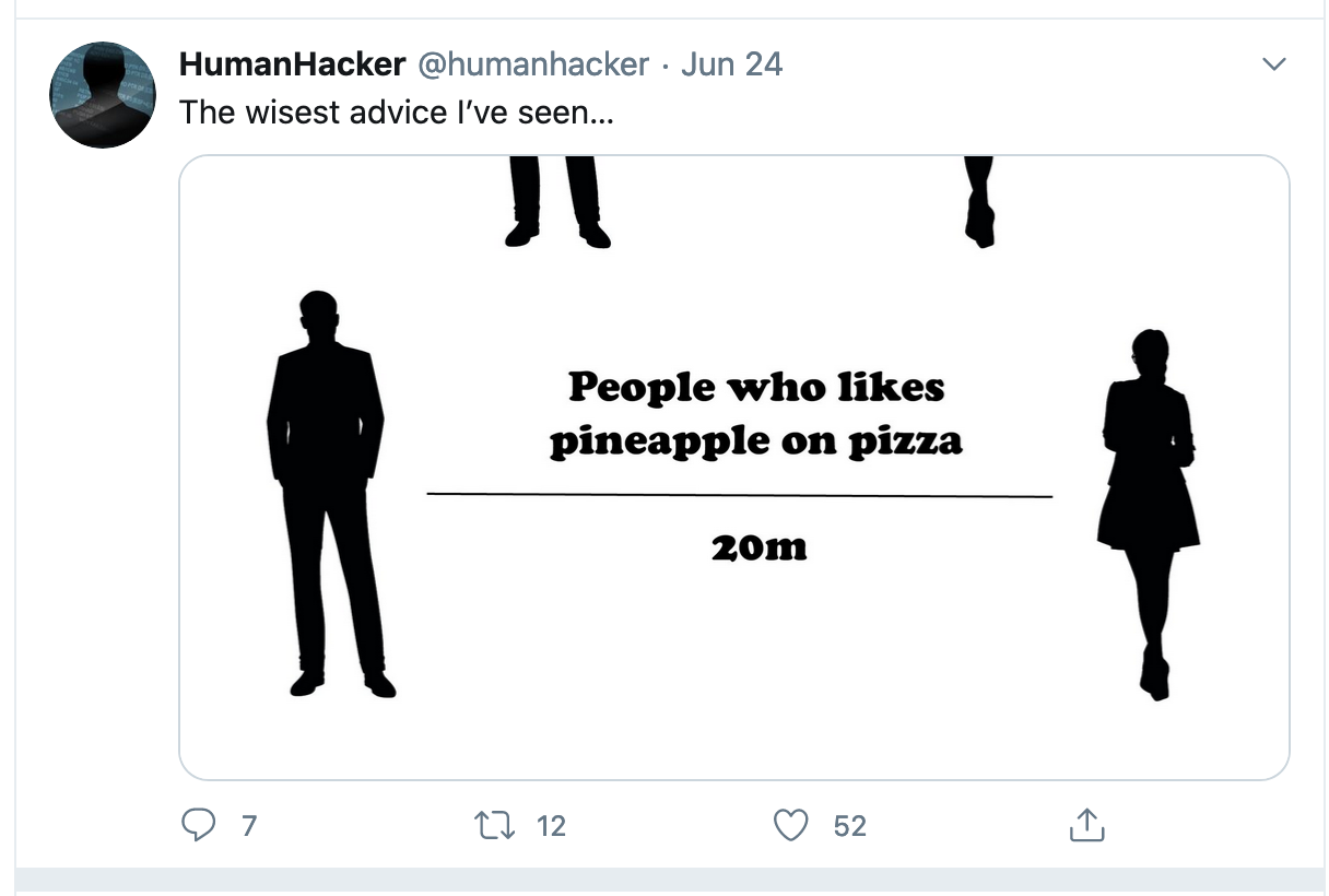 Social Distancing Pineapple Pizza