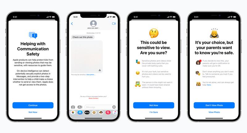 Apple Communication Safety Screenshots